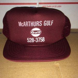 ... McArthurs GULF Oil Gasoline Petroleum Hat Cap vTG ... 7c4a39f442c6